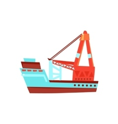 Cargo ship toy boat vector