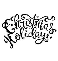Christmas holidays poster vector