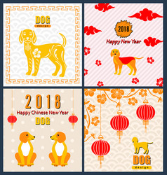 Collection banners with chinese new year earthen vector