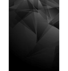 Dark black low poly tech design vector image vector image