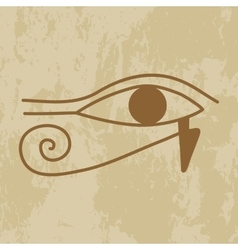 Hieroglyph of the eye of providence vector