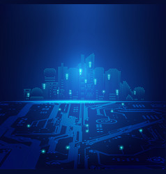 light city vector image