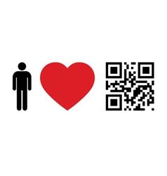 People love qr code vector