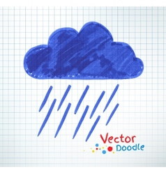 Pouring rain and cloud vector