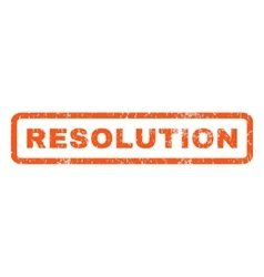 Resolution rubber stamp vector