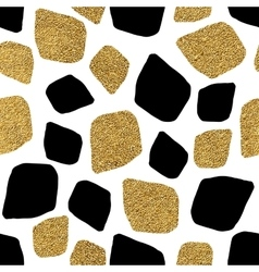 Seamless background of golden and silvern mosaic vector image vector image