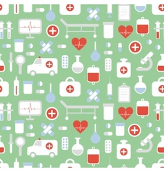 Seamless pattern of medical and health colorful vector image