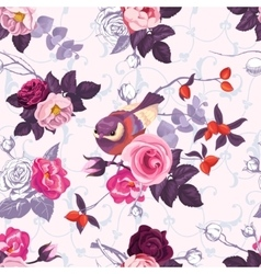 Seamless pattern with colorfull bunches of roses vector image vector image