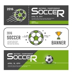 Set of soccer banners vector image