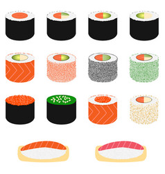 set of sushi vector image