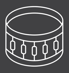 Snare drum line icon music and instrument vector