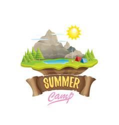 Summer campinng concept vector