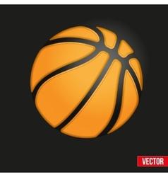 Symbol soft basketball ball vector