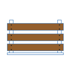 wood box empty vector image