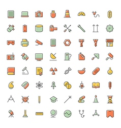 icons for science technology and medical vector image