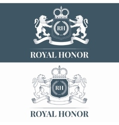 Royal honor logo vector