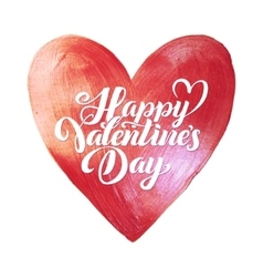Happy valentines day lettering pink foil heart vector