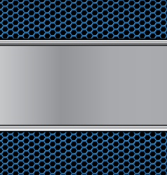 Metal texture on blue vector