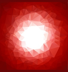 Red vivid polygonal mosaic background vector