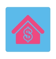 Mortgage icon from commerce buttons overcolor set vector