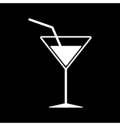 The cocktail icon drink and party alcohol symbol vector