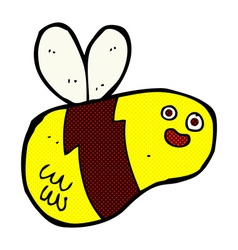 Comic cartoon bee vector
