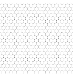 Chemistry seamless pattern hexagonal design vector image