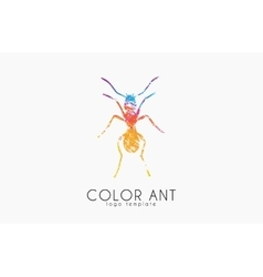 Ant logo color ant symbol creative ant vector