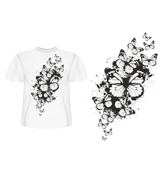 Butterfly design t shirt vector