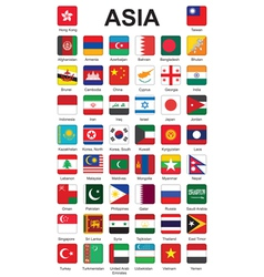 Asia flag buttons vector