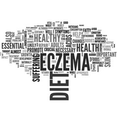 A healthy diet can help clear up your eczema text vector