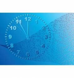 abstract blue background time vector image vector image