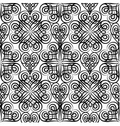 abstract celtic floral seamless pattern line vector image