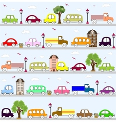 baby vehicle pattern design vector image vector image