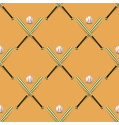 Baseball sport inventory seamless pattern vector