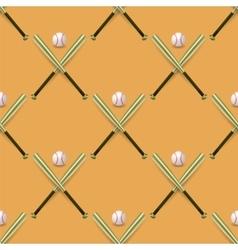 Baseball Sport Inventory Seamless Pattern vector image vector image