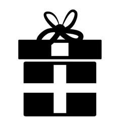 Black gift box icon isolated vector