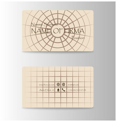 Business card in east japanese and china style vector