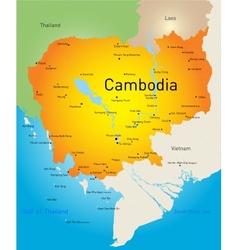 Cambodia vector image