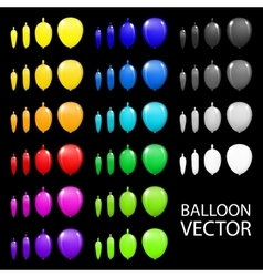 Children party balloons colorful black vector