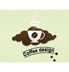 coffee cup flavor design background vector image