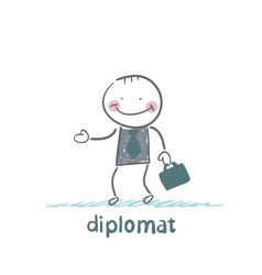 Diplomat goes to work vector