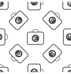 Euro bag pattern vector