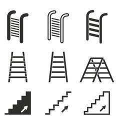 Ladder icon set vector