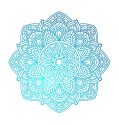 Mandala ornamental round pattern vector
