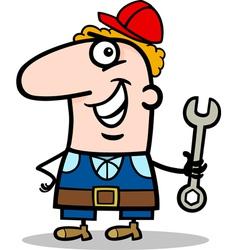 manual worker cartoon vector image