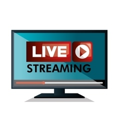 Monitor pc live streaming design graphic vector