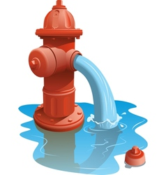 Open Fire Hydrant vector image vector image