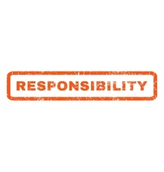 Responsibility Rubber Stamp vector image
