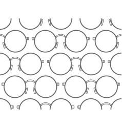 Round eyeglasses pattern vector